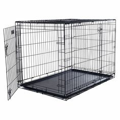 Pet Crate Double Door Foldable Dog Cat Rabbit Cage Kennel Folding Portable (Large) * Startling review available here  : Dog kennels