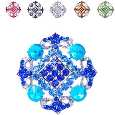 Cheap pin dip, Buy Quality brooch flower directly from China brooch unique Suppliers:        Women's Luxurious Brooches Flowers Cluster Rhombus Shape Platinum-plated Rhinestone Party Vintage Black Bro