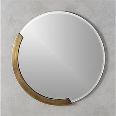 "kit 24"" round mirror | CB2"