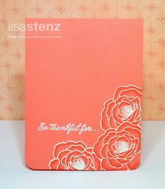 by Lisa Stenz - with white embossing and Sorbet markers set... so simple! (ooh this one is GORGEOUS, and I am good at drawing flowers!-L.)