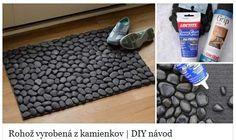 Rohož z kamínků http://www.kreativita.info/rohoz-vyrobena-z-kamienkov-diy-navod/