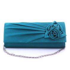 QICAI.YANZI 2017 Women Evening Clutch Party Prom Wedding Rose Bags Ladies Fashion Purses Wallets Satin Handbag Lovers Gift N560