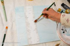 How to paint an Aspen Tree (or Birch) one easy stroke at a time. An easy beginner friendly painting tutorial in acrylics. Create DIY signs and more!...