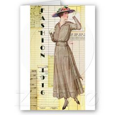 1916 Fashion Greeting Cards #1916 #fashion @Cassandra Guild Peters @Angelandspot
