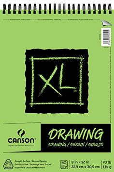 #Canson XL #Drawing Pads feature paper with a smooth surface that erases cleanly. These wire bound pads have micro perforation for an easy removal. This pad conta...
