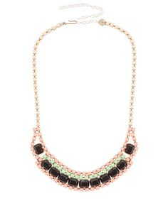 Love Obsessed Bib necklace, $75.