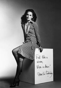 Diane Von Furstenberg is famously known for her wrap dress that she introduced in 1974. By 1976 over one million of these dresses had been sold. This is an example of a megatrend because it changed the course of fashion history and remains a popular item of clothing. The wrap dress has since been copied by many designers but still remains to be best created by DVF.