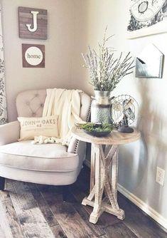 Best rustic farmhouse living room decor ideas (16)