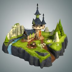 3ds max stylized castle environment