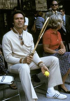 Clint Eastwood et Ethel Kennedy - Août 15 Clint Eastwood, Eastwood Movies, Tennis Tournaments, Tennis Players, Tv Actors, Actors & Actresses, Tennis Whites, Young John, Ted Kennedy