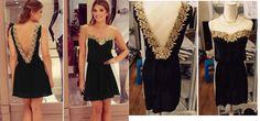 1 Foto Real, Aliexpress, Ideias Fashion, One Shoulder, Formal Dresses, Dress Black, Vestidos, Pictures, Dresses For Formal