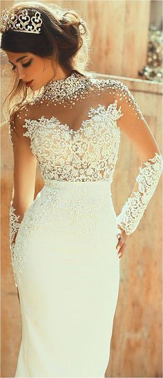 Cute 107 Best Long Sleeve Lace Wedding Dresses Inspirations https://bridalore.com/2017/12/30/107-best-long-sleeve-lace-wedding-dresses-inspirations/ #laceweddingdresses