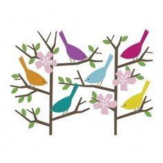 Sparrow wall decals