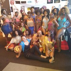 The Model Squad at the Caution: Wet Paint art show.  I love these ladies. They came to bring it and they did!  #fashion #show #runway #models #crochet #swimwear #beachwear #collection #summer #fun #beach #wetpaint #handmade #bikini #monokini #poolside