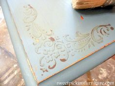 this is awesome!  must try soon !  Sweet Pickins - Raised Stencil