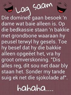 Hahahaha.......ag nooit! Witty Quotes Humor, Wedding Jokes, Afrikaanse Quotes, Laugh At Yourself, Set You Free, Twisted Humor, Inspirational Thoughts, Verses, Funny Jokes