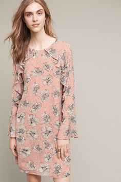 Blooming Hour Tunic Dress - anthropologie