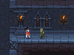 Some progress on the side scroller pixel dungeon... | Low Poly 3D Models