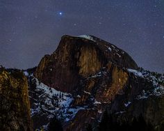 Stars over Half Dome by le_borst, via Flickr