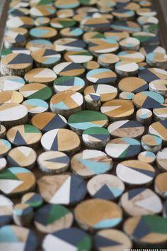 Custom Wall Art With Wood Slices :: Hometalk