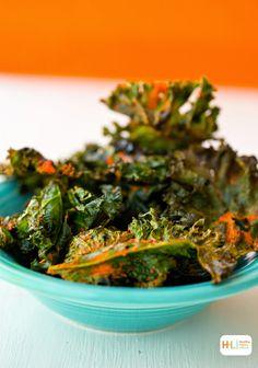 Bold 'n Spicy Garlic Kale Chips, Halloween Orange