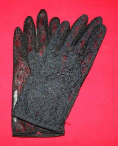 Vintage Gloves Women's Black Lace Dress by ilovevintagestuff