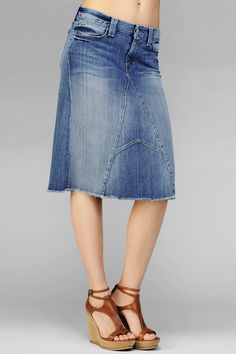 Mid Length Jean Skirts