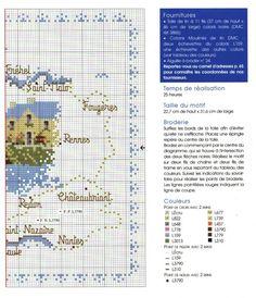 0 point de croix grille et couleurs de fils carte de la Bretagne 2