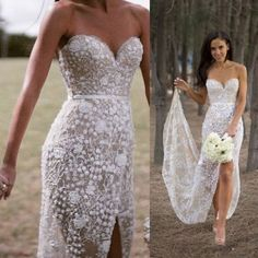 Elegant sweetheart mermaid wedding dress bridal gown with appliques