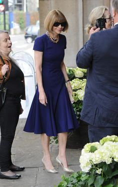Anna Wintour Photos - Memorial Service Held for Beatrice Miller  - Zimbio