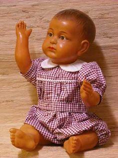 poupées anciennes, ours anciens, baigneur celluloid, SFBJ, vente de poupées anciennes, boutique de poupées anciennes, santon, achat poupée a...
