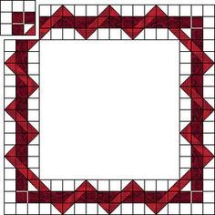 Awesome How-To for an intertwined border, made on a small scale from half-square triangles or on a larger scale with log cabin or Strips That Sizzle blocks.