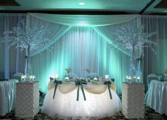 Head table decor...beautiful!