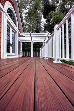 Transform your outdoor space with AZEK Deck in Redland Rose® from the Arbor Collection®. AZEK.com has all types of tools to help design your dream #deck.