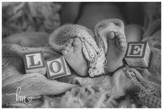 blocks and newborn feet - LOVE