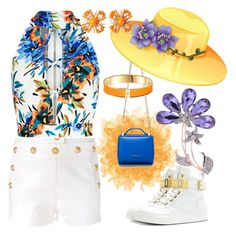 """""""Let there always be sunshine, may there always be peace!"""" by m-kints ❤ liked on Polyvore featuring Balmain, Givenchy, Miriam Haskell and white"""