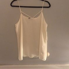 Tildon tank top Super cute cream tank top with strap detailing around the chest. Never worn! Tops