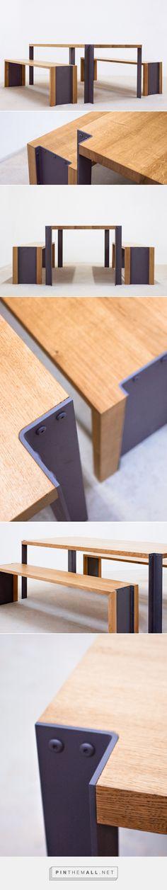 Mesa de centro de hierro y madera de pino recuperada / realizada ...