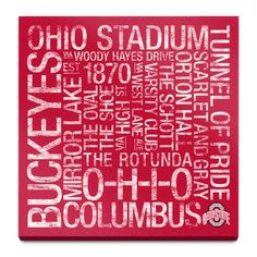 Find it at the Foundary - Ohio State: College Colors Subway Art