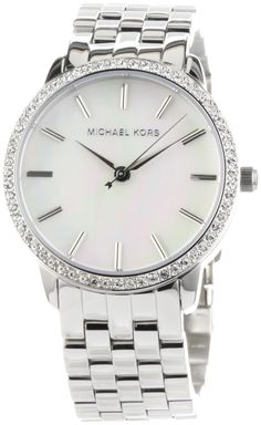 Michael Kors Watches Ladies 5- Link Round Mother of Pearl with Glitz  Price: $159.00. Love