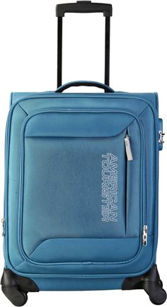 American Tourister Mocha Spinner 55Cm - Ns Blue Cabin Luggage on September 08…