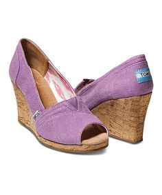 Take a look at this Orchid Hemp Wedge - Women by TOMS on #zulily today!