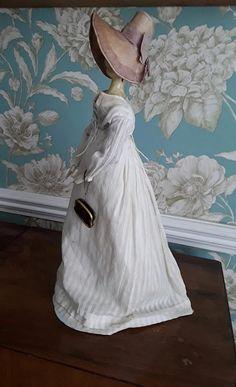 Original Regency outfit for Grodnertal Victorian Dolls, Antique Dolls, Vintage Dolls, Antique Quilts, Vintage Quilts, Dollhouse Dolls, Miniature Dolls, Fabric Dolls, Paper Dolls