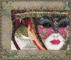 Beautifully designed and very sophisticated needlepoint project.