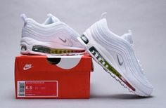 Mens Womens Nike Air Max 97 Running Shoes Premium White Multi Color 917646 111 917646 111