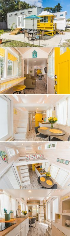 Yellow Lifeguard by Upper Valley Tiny Homes &; Tiny Living Yellow Lifeguard by Upper Valley Tiny Homes &; Tiny Living citronbird Einrichten This tiny beach house was built by […] Homes For Sale in florida Tiny Beach House, Beach House Decor, Home Decor, Beach Houses, Tyni House, Tiny House Living, Bus Living, Small Living, Tiny House Movement