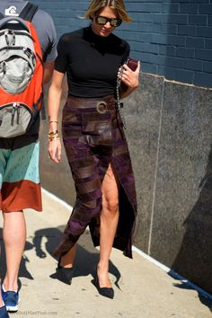 Calvin Klein patchwork suede skirt #flatlay #flatlays #flatlayapp www.flat-lay.com
