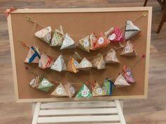 テトラ折り紙DIY☆簡単かわいいアドベントカレンダーの作り方