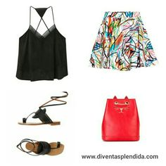 #outfit   #estate    #gonna   #sandali Segui 💖💖💖 www.diventasplendida.com 💖💖💖