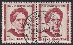 Estampilla Suiza, 1951 - Johanna Spyri